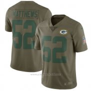 Camiseta NFL Limited Nino Green Bay Packers 52 Matthews 2017 Salute To Service Verde