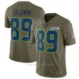 Camiseta NFL Limited Nino Seattle Seahawks 89 Baldwin 2017 Salute To Service Verde