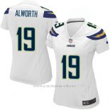 Camiseta San Diego Chargers Alworth Blanco Nike Game NFL Mujer