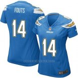 Camiseta San Diego Chargers Fouts Azul Nike Game NFL Mujer