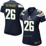 Camiseta San Diego Chargers Hayward Negro Nike Game NFL Mujer