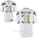 Camiseta Seattle Seahawks Chancellor Blanco Nike Gold Game NFL Hombre