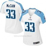 Camiseta Tennessee Titans McCain Blanco Nike Game NFL Mujer
