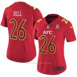 Camiseta AFC Bell Rojo 2017 Pro Bowl NFL Mujer