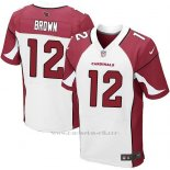 Camiseta Arizona Cardinals Brown Rojo y Blanco Nike Elite NFL Hombre