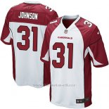Camiseta Arizona Cardinals Johnson Blanco Rojo Nike Game NFL Nino