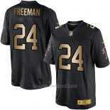 Camiseta Atlanta Falcons Freeman Negro Nike Gold Elite NFL Hombre