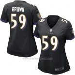 Camiseta Baltimore Ravens Brown Negro Nike Game NFL Mujer