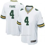 Camiseta Green Bay Packers Favre Blanco Nike Game NFL Hombre