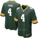 Camiseta Green Bay Packers Favre Verde Militar Nike Game NFL Nino