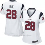 Camiseta Houston Texans Blue Blanco Nike Game NFL Mujer