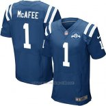 Camiseta Indianapolis Colts Mcafee Azul Nike Elite NFL Hombre