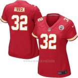 Camiseta Kansas City Chiefs Allen Rojo Nike Game NFL Mujer
