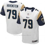 Camiseta Los Angeles Rams Havenstein Blanco Nike Elite NFL Hombre