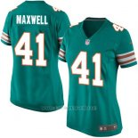 Camiseta Miami Dolphins Maxwell Verde Oscuro Nike Game NFL Mujer
