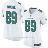 Camiseta Miami Dolphins Moore Blanco Nike Game NFL Mujer
