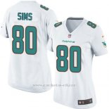 Camiseta Miami Dolphins Sims Blanco Nike Game NFL Mujer