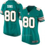 Camiseta Miami Dolphins Sims Verde Oscuro Nike Game NFL Mujer