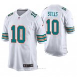 Camiseta NFL Game Hombre Miami Dolphins Kenny Stills Blanco Throwback