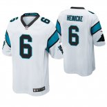 Camiseta NFL Game Hombre Panthers Taylor Heinicke Blanco
