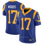 Camiseta NFL Game Los Angeles Rams 17 Robert Woods Alternate Azul