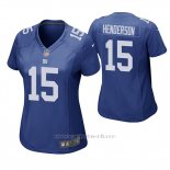 Camiseta NFL Game Mujer New York Giants Quadree Henderson Azul