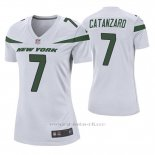 Camiseta NFL Game Mujer New York Jets Chandler Catanzaro Blanco
