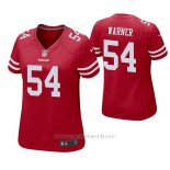 Camiseta NFL Game Mujer San Francisco 49ers Fred Warner Rojo