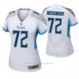 Camiseta NFL Game Mujer Tennessee Titans David Quessenberry Blanco