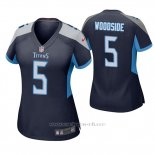 Camiseta NFL Game Mujer Tennessee Titans Logan Woodside Azul