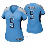 Camiseta NFL Game Mujer Tennessee Titans Logan Woodside Azul Luminoso