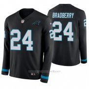 Camiseta NFL Hombre Carolina Panthers James Bradberry Negro Manga Larga