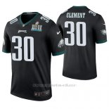 Camiseta NFL Legend Hombre Philadelphia Eagles Corey Clement Negro Super Bowl Lii Champions Color Rush