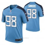 Camiseta NFL Legend Tennessee Titans Jeffery Simmons Color Rush Azul
