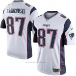 Camiseta NFL Limited Hombre 87 Gronkowski Cooks New England Patriots Blanco