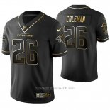 Camiseta NFL Limited Hombre Atlanta Falcons Tevin Coleman Golden Edition Negro