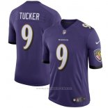 Camiseta NFL Limited Hombre Baltimore Ravens 9 Justin Tucker Violeta Speed Machine