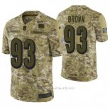 Camiseta NFL Limited Hombre Cincinnati Bengals Andrew Brown Camuflaje 2018 Salute To Service