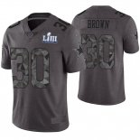 Camiseta NFL Limited Hombre Dallas Cowboys Anthony Brown Gris Super Bowl LIII