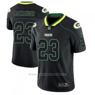 Camiseta NFL Limited Hombre Green Bay Packers Jaire Alexander Negro Color Rush 2018 Lights Out
