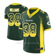 Camiseta NFL Limited Hombre Green Bay Packers Tramon Williams Verde 2018 Drift Fashion Color Rush