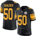 Camiseta NFL Limited Hombre Pittsburgh Steelers 50 Ryan Shazier Negro Stitched Rush