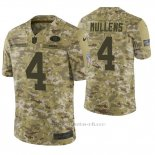 Camiseta NFL Limited Hombre San Francisco 49ers Nick Mullens Camuflaje 2018 Salute To Service