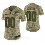 Camiseta NFL Limited Mujer Houston Texans Personalizada 2018 Salute To Service Verde