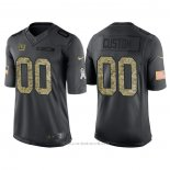 Camiseta NFL Limited New York Giants Personalizada 2016 Salute To Service Negro