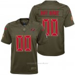 Camiseta NFL Limited Nino Tampa Bay Buccaneers Personalizada Salute To Service Verde