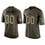 Camiseta NFL Limited Philadelphia Eagles Personalizada Salute To Service Verde2