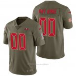 Camiseta NFL Limited Tampa Bay Buccaneers Personalizada 2017 Salute To Service Verde