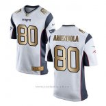 Camiseta New England Patriots Amendola Blanco Nike Gold Game NFL Hombre