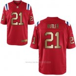 Camiseta New England Patriots Butler Rojo Nike Gold Game NFL Hombre